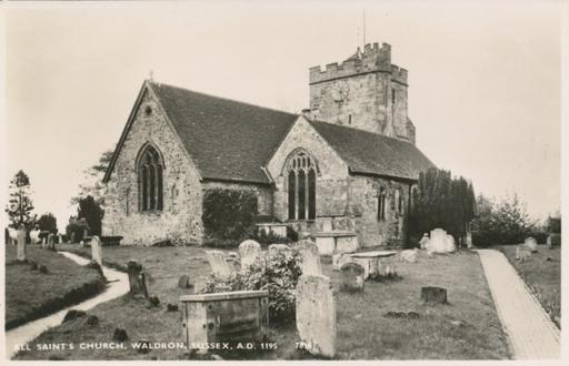 A photograph of All Saints Church, Waldron, Heathfield, East Sussex 1920-1950