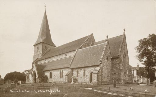 A photograph of Parish Church, Heathfield, East Sussex 1935.