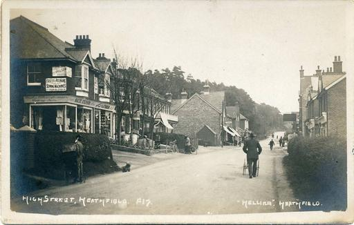 A old photograph of Heathfield High Street